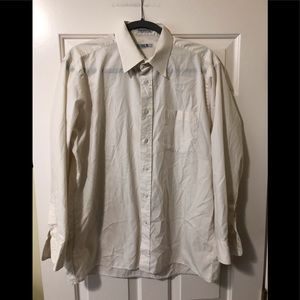 Christian Dior cream dress shirt 16 1/2 32-33